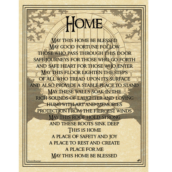 Home Blessing Parchment Poster (8.5