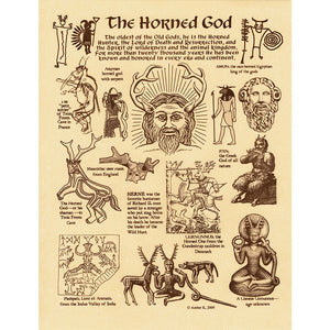"Horned God Parchment Poster (8.5"" x 11"")"
