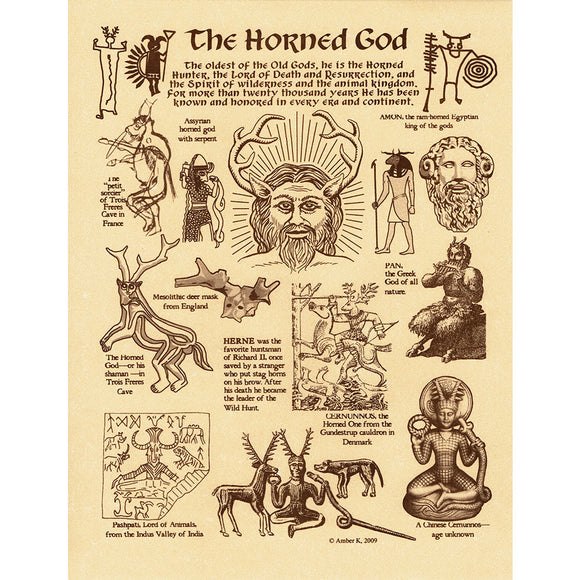 Horned God Parchment Poster (8.5
