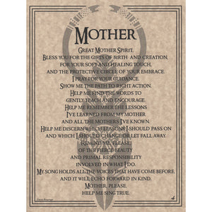 "Mother Prayer Parchment Poster (8.5"" x 11"") - Grove and Grotto"