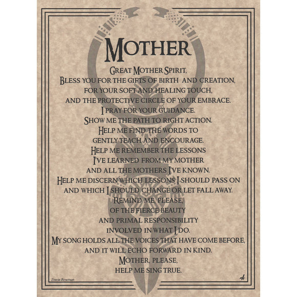Mother Prayer Parchment Poster (8.5