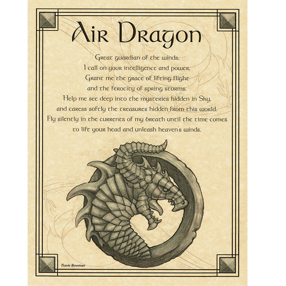 Air Dragon Parchment Poster (8.5