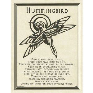 "Hummingbird Prayer Parchment Poster (8.5"" x 11"") - Grove and Grotto"