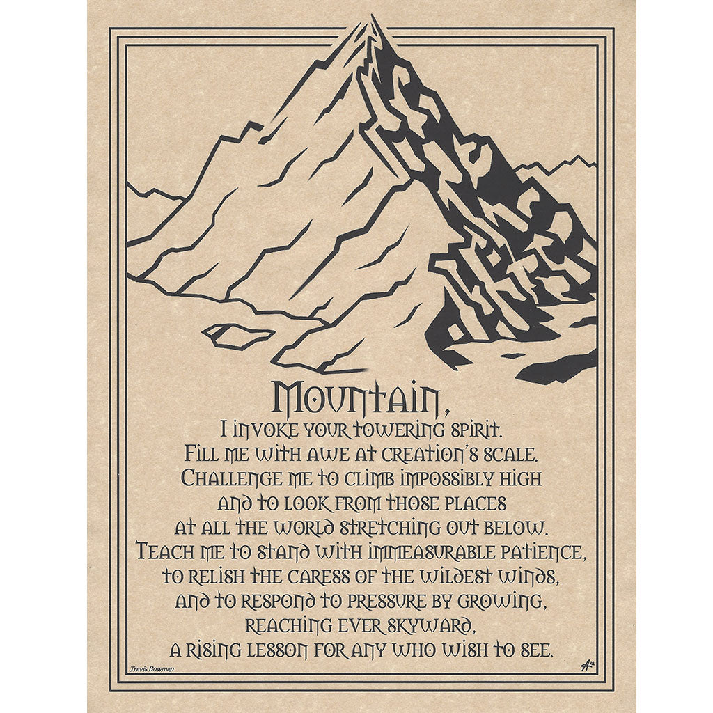 "Mountain Prayer Parchment Poster (8.5"" x 11"")"