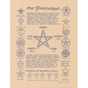"The Pentagram Parchment Poster (8.5"" x 11"") - Grove and Grotto"