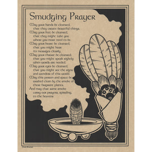 "Smudging Prayer Parchment Poster (8.5"" x 11"")"