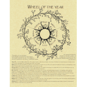 "Wheel of the Year Parchment Poster (8.5"" x 11"")"