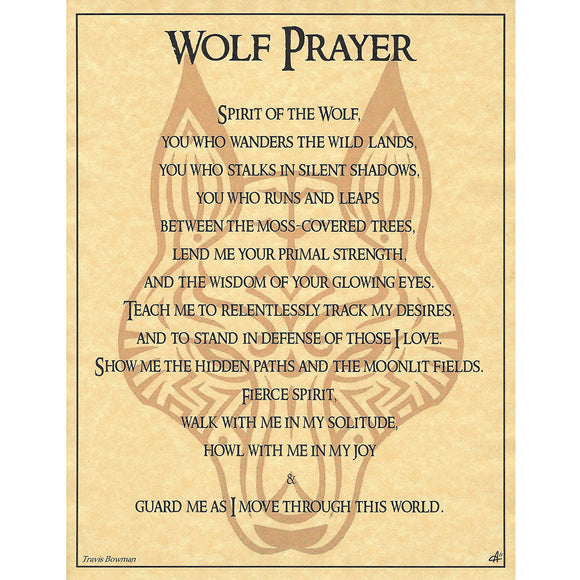 Wolf Prayer Parchment Poster (8.5