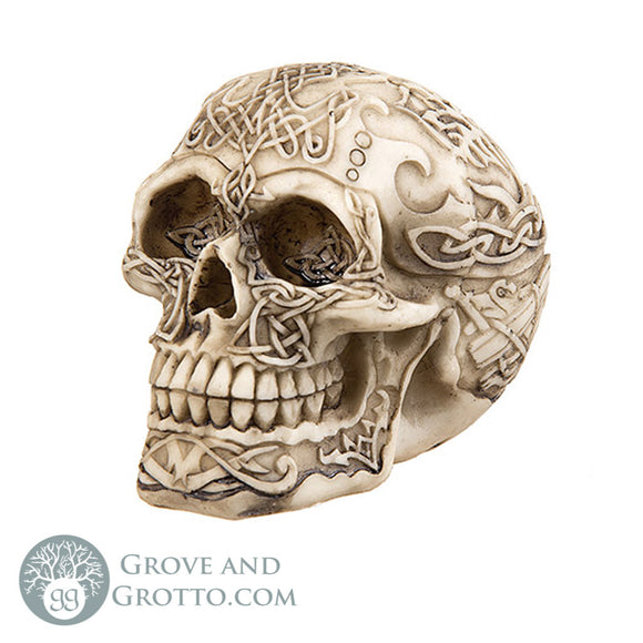 Celtic Knot Mini Skull - Grove and Grotto