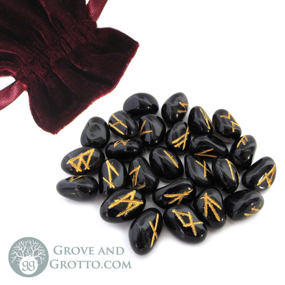 Black Onyx Rune Set (Small)