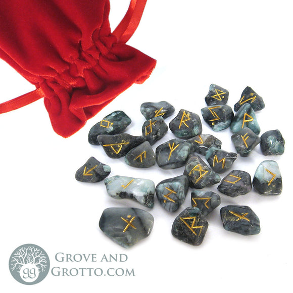 Emerald Rune Set (Small) - Grove and Grotto