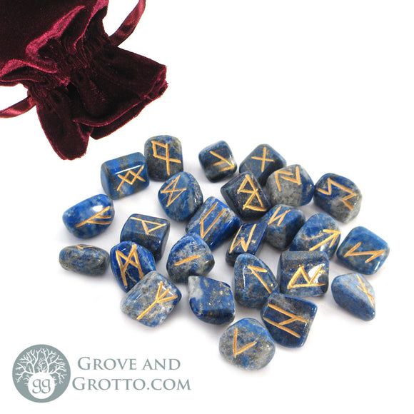 Lapis Lazuli Rune Set (Small) - Grove and Grotto