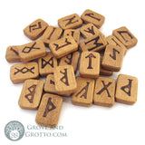 Wooden Rune Set (Deluxe Boxed Set) - Grove and Grotto