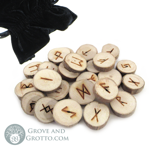Poplar Wood Rune Set (Large) - Grove and Grotto