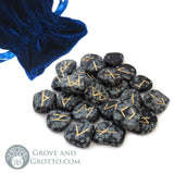 Snowflake Obsidian Rune Set - Grove and Grotto
