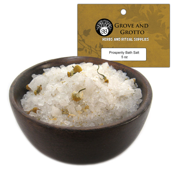 Prosperity Bath Salt (5 oz) - Grove and Grotto