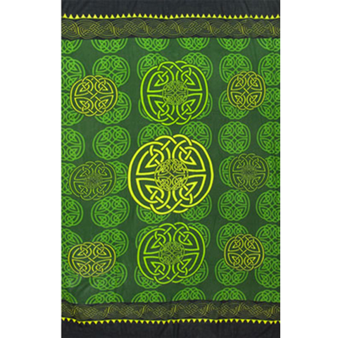 Green Celtic Sarong - Grove and Grotto