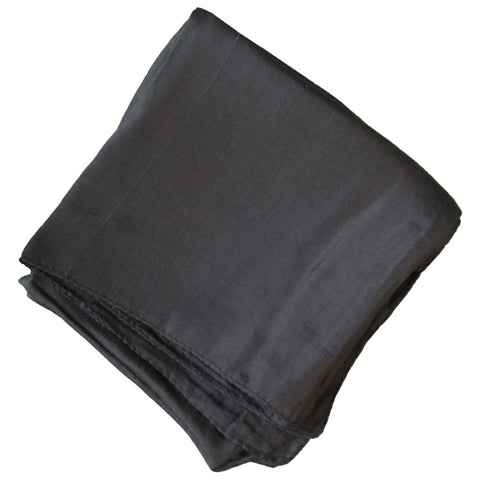 100% Silk Square (Black) - Grove and Grotto