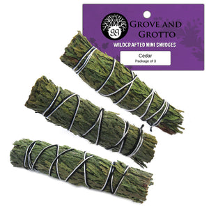Mini Cedar Smudges (Package of 3) - Grove and Grotto