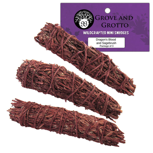 Dragon's Blood and Sagebrush Smudge (Package of 3) - Grove and Grotto