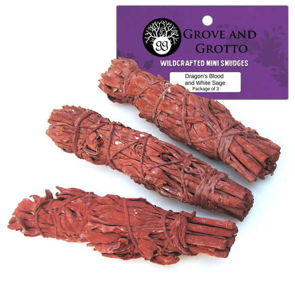 Dragon's Blood and White Sage Smudge (Package of 3) - Grove and Grotto