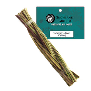 "Mini Sweetgrass Braid 4"" - Grove and Grotto"