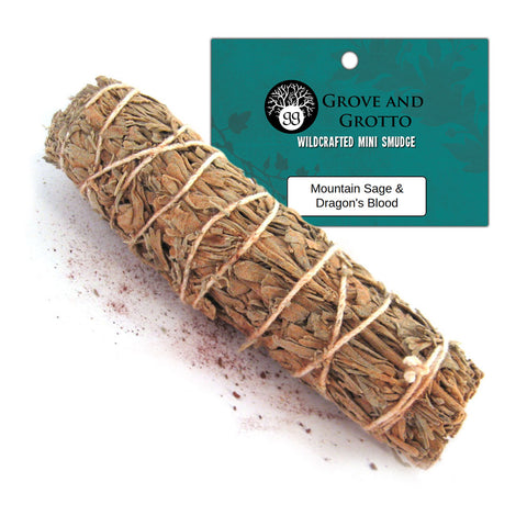 Dragon's Blood and Mountain Sage Smudge - Grove and Grotto