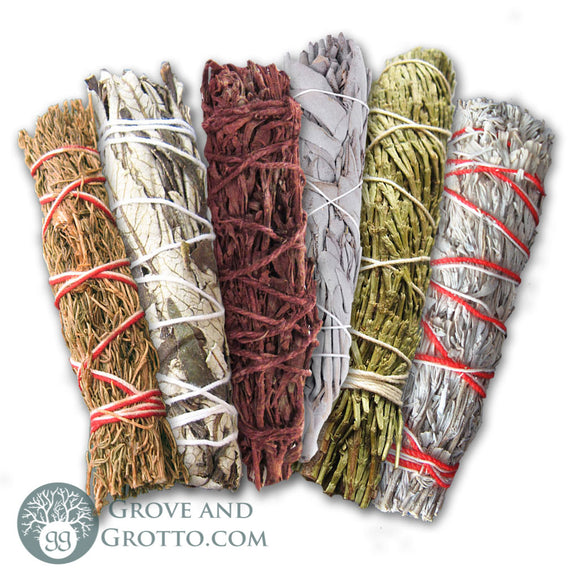 Deluxe 6-Piece Smudge Sampler - Grove and Grotto