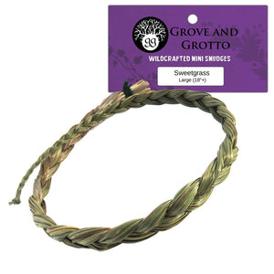 "Large Sweetgrass Braid (18""+)"