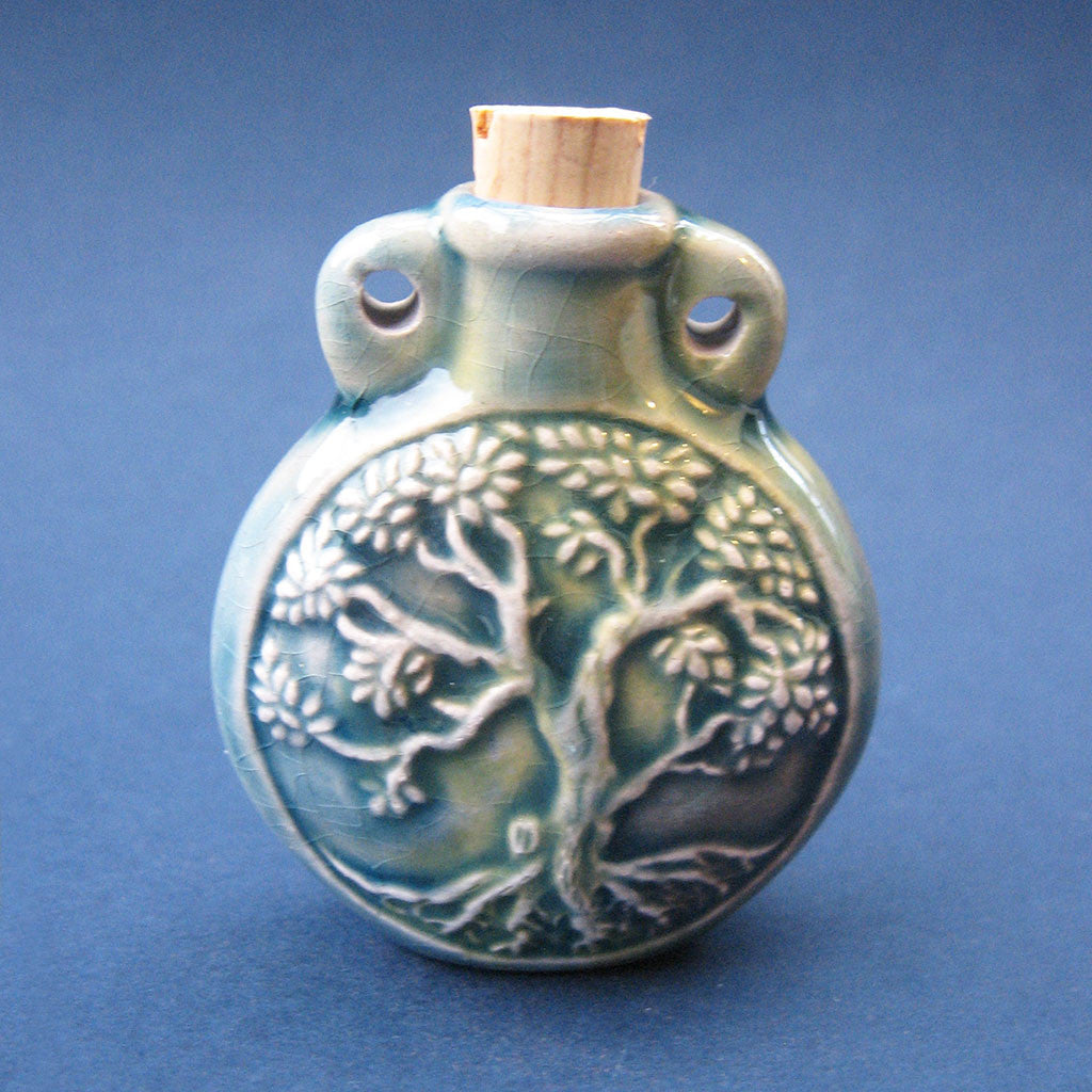 Tree of Life Raku Bottle