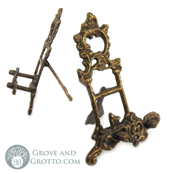 Brass Scrying Mirror Stand - Grove and Grotto