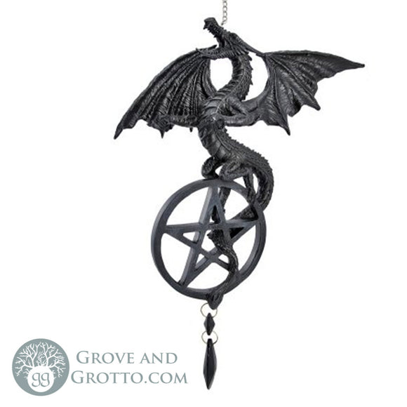 Dragon Dream Catcher with Pentacle - Grove and Grotto