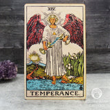 Tarot Art Print on Wood (Temperance)