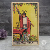Tarot Art Print on Wood (The Magician)