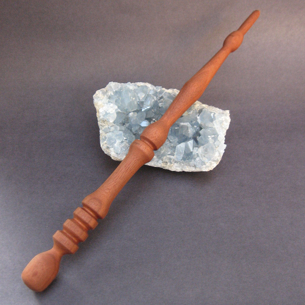 "Handmade Mahogany Wand 12.5"" - Grove and Grotto"