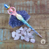 Spiral Goddess Rainbow Wand