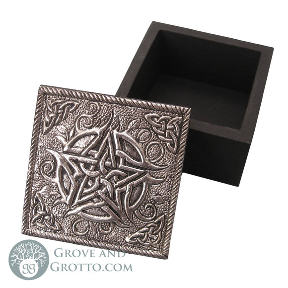 Silver Pentacle Trinket Box - Grove and Grotto