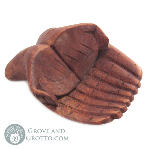 Wooden Hands Offering Bowl (Large) - Grove and Grotto
