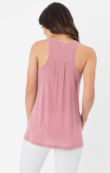 The Ribbed Racer Tank (Blossom Rose) // Z.Supply