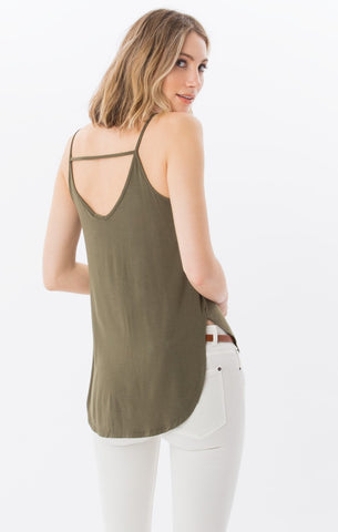 The Sleek Jersey Strappy Tank (Ivy Green)  // Z.Supply