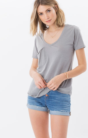 The Pocket Tee (Grey Stone) // Z.Supply
