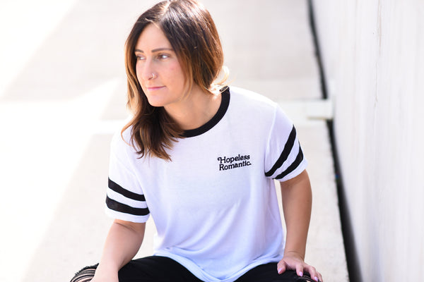 Hopeless Romantic Football Tee // Daydreamer