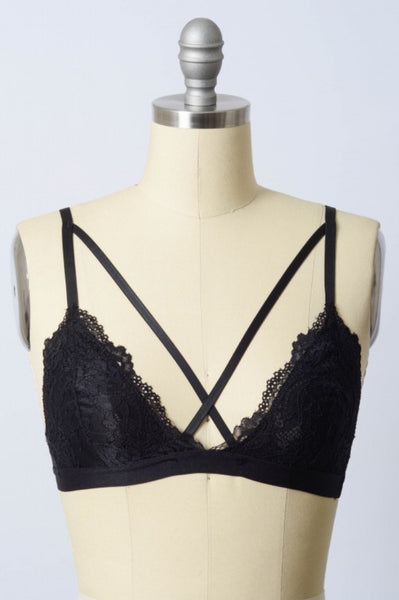 Cross Front Lace Bralette