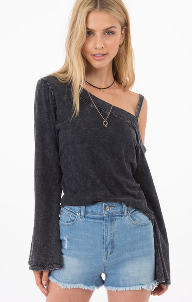 Runaway Cold Shoulder Bell Sleeve Top // Others Follow