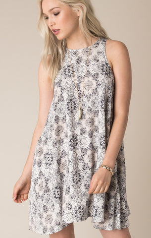 Carrie sleeveless printed dress