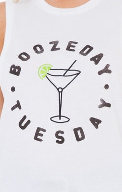 Boozeday Tuesday Graphic Tank // Icons of Culture
