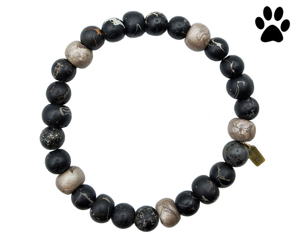 shamballa bracelet, animal society charity, black bracelet for men and women, Meraki Journey bracelet