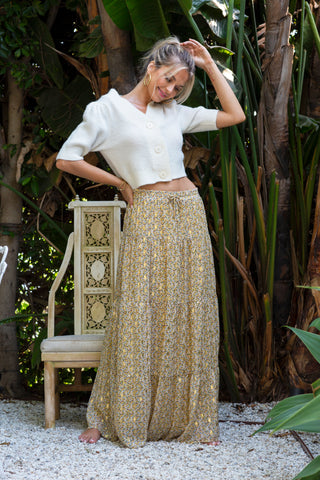 Afterglow Tiered Maxi Skirt