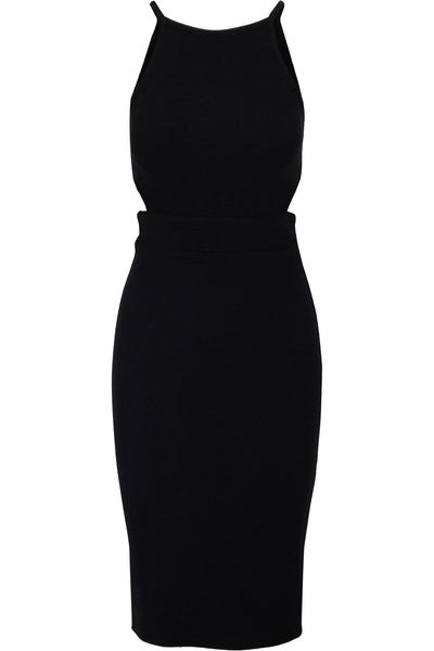 Cutout Ribbed Midi