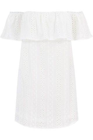Eyelet Off Shoulder
